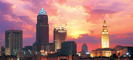 cleveland skyline vector. Thecleveland ohio city,city